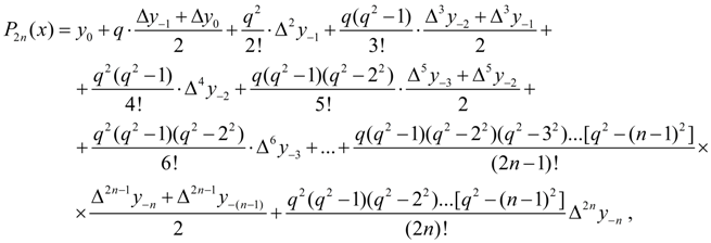 Interpolation of functions - Stirling's interpolation formula